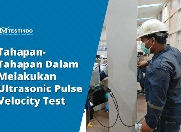 Ultrasonic pulse velocity test